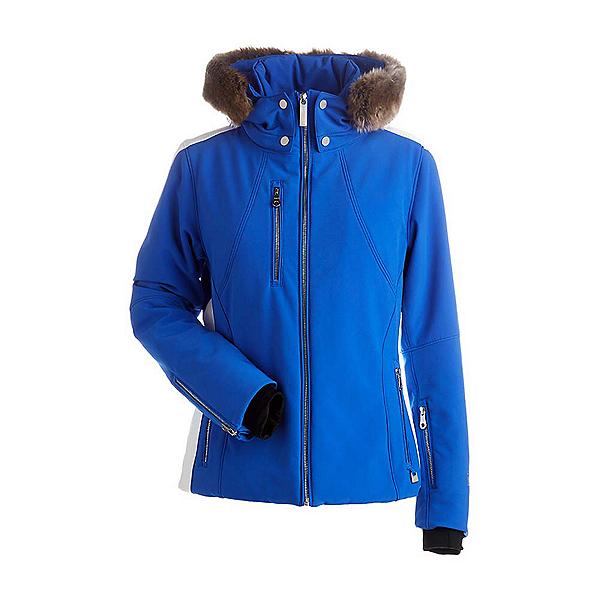 NILS Kassie w/Faux Fur Womens Insulated Ski Jacket, Blue Blaze-White, 600