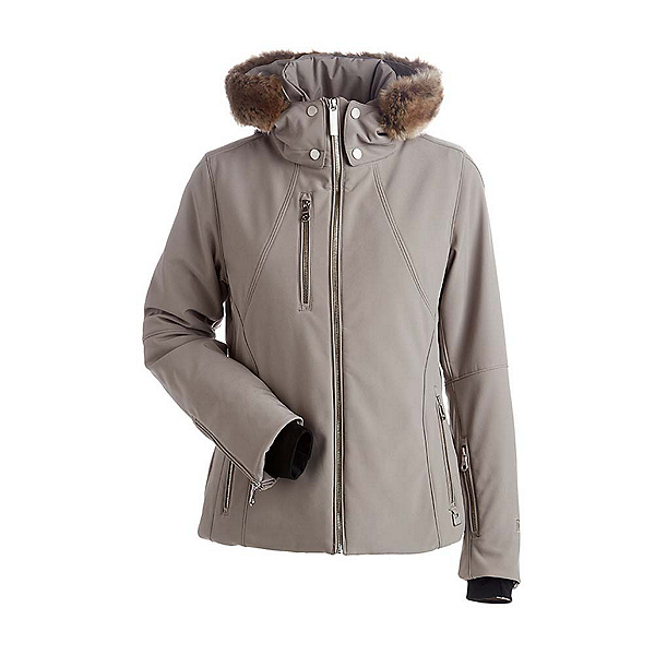 NILS Kassandra w/Faux Fur Womens Insulated Ski Jacket, Mushroom, 600