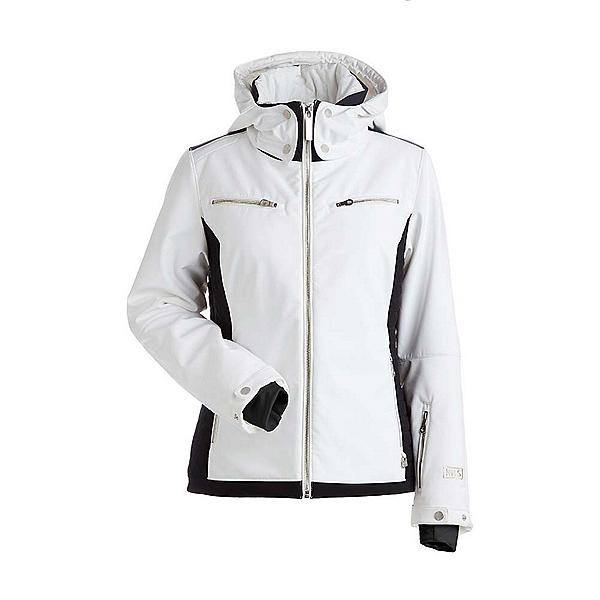 NILS Kristi Womens Insulated Ski Jacket, White-Black, 600