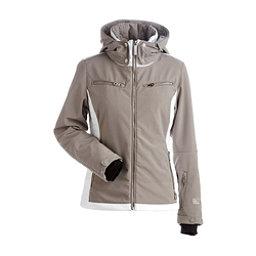 NILS Kristi Womens Insulated Ski Jacket, Mushroom-White, 256