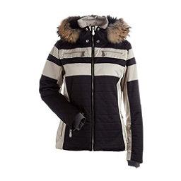 NILS Ida Real Fur Womens Insulated Ski Jacket, Black-Champagne, 256