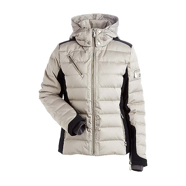 NILS Ula Womens Insulated Ski Jacket, Champagne-Black, 600