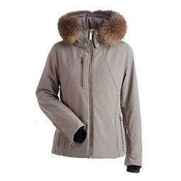 NILS Kassandra Real Raccoon Fur Womens Insulated Ski Jacket, Mushroom, 256