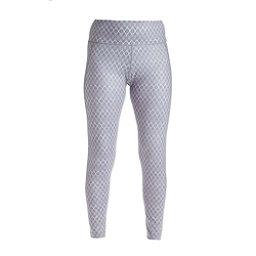 NILS Jenni Print Legging Womens Long Underwear Pants, Steel Grey White Geo Print, 256