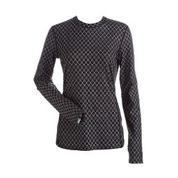 NILS Kayla Print Womens Long Underwear Top, Black White Geo Print, 256