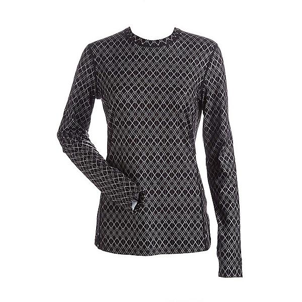 NILS Kayla Print Womens Long Underwear Top, Black White Geo Print, 600