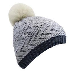 UGG Chevron Beanie w/Fur Pom Womens Hat, Nocturn M, 256