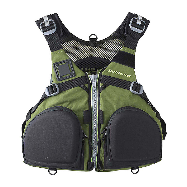 Stohlquist Fisherman Fishing Kayak Life Jacket 2020, Olive Green, 600