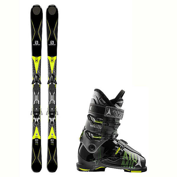 Salomon X-Drive 8.3 Waymaker 110 Ski Package 2018, , 600