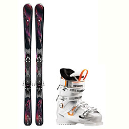 Salomon Gemma Kiara 80 Womens Ski Package 2018, , 256