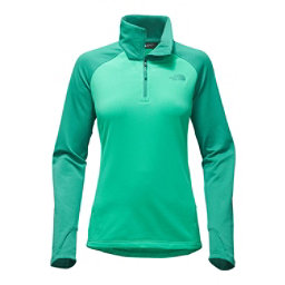 The North Face Borod 1/4 Zip Womens Shirt, Pool Green-Porcelain Green, 256