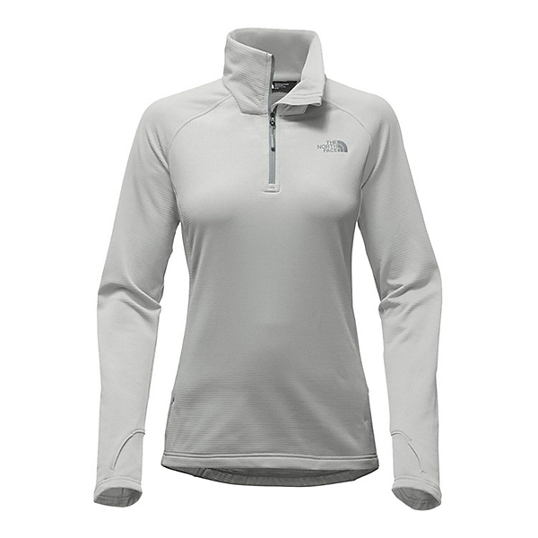 The North Face Borod 1/4 Zip Womens Shirt, High Rise Grey, 600