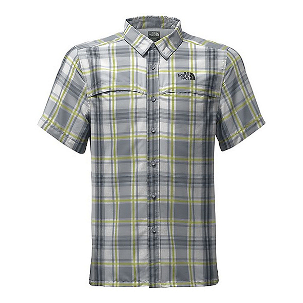 The North Face Vent Me Short-Sleeve Mens Shirt, Mid Grey Plad, 600