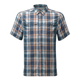 The North Face Vent Me Short-Sleeve Mens Shirt, Shade Blue Plaid, 256