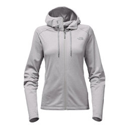 The North Face Tech Mezzaluna Full Zip Womens Hoodie, TNF Light Grey Heather, 256