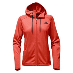 The North Face Tech Mezzaluna Full Zip Womens Hoodie, Fire Brick Red Heather, 256