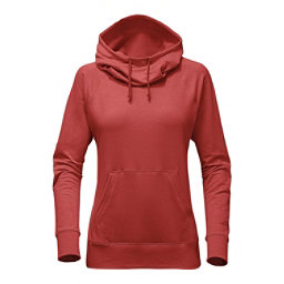 The North Face Long Sleeve TNF Terry Hooded Top, Sunbaked Red Heather, 256