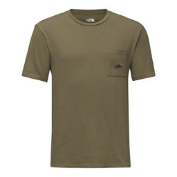 The North Face Mens Well-Loved Pocket Tee, Burnt Olvie Green, 256