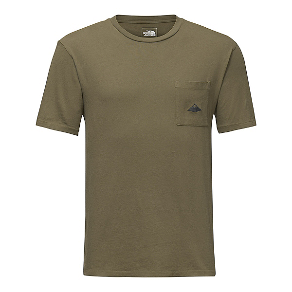 The North Face Mens Well-Loved Pocket Tee (Previous Season), Burnt Olvie Green, 600