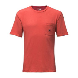 The North Face Mens Well-Loved Pocket Tee, Sunbaked Red, 256