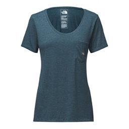 The North Face Short Sleeve Tri-Blend Pocket Tee, Blue Wing Teal Heather, 256