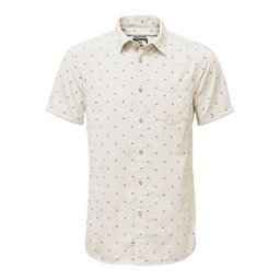 The North Face Bay Trail Jacquard Mens Shirt, Vintage White Print, 256