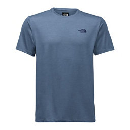 The North Face Hyperlayer Flash Dry Short Sleeve Crew Mens T-Shirt, Shade Blue Heather, 256