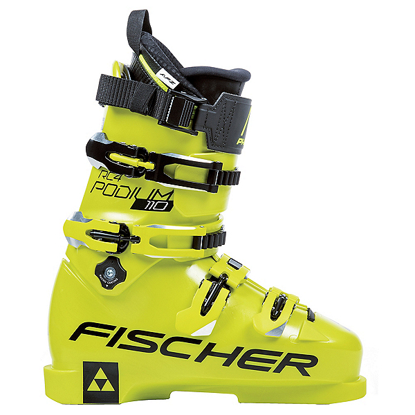 Fischer RC4 Podium 110 LC Race Ski Boots 2020, Yellow-Yellow, 600