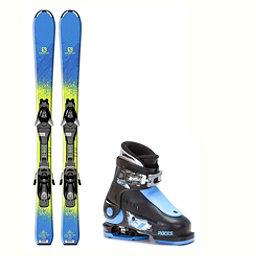 Salomon QST Max Jr Idea Up Adjustable Kids Ski Package 2018, , 256