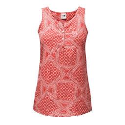The North Face Barilles Tank Womens T-Shirt, Sunbaked Red Bandana Print, 256