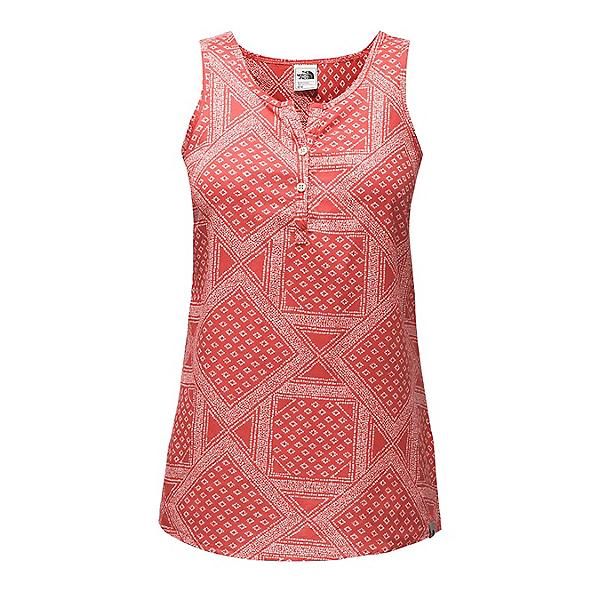The North Face Barilles Tank Womens T-Shirt, Sunbaked Red Bandana Print, 600