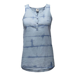 The North Face Barilles Tank Womens T-Shirt, Dusty Blue Dye Stripe Print, 256