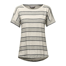 The North Face Short Sleeve Sand Scape Tee Womens T-Shirt, Vintage White Stripe, 256