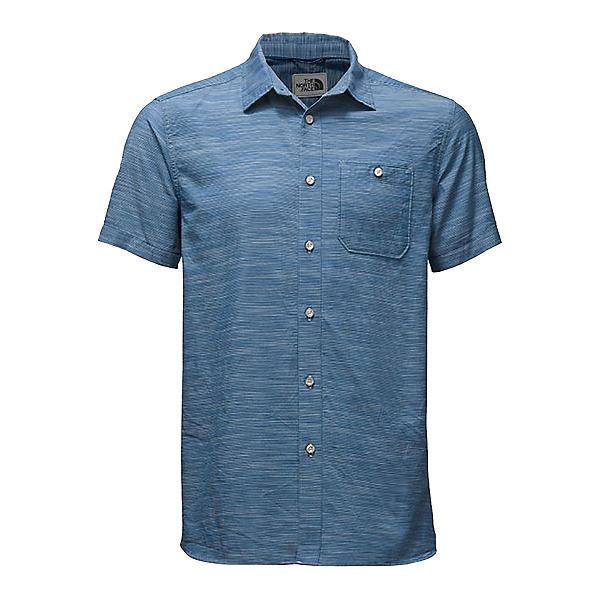 The North Face Baker Short Sleeve Mens Shirt, Bristol Blue Plaid, 600
