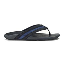 OluKai Ikoi Mens Flip Flops, Trench Blue-Trench Blue, 256