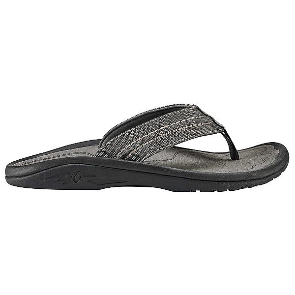 OluKai Hokua Mesh Mens Flip Flops, Clay-Charcoal, 600