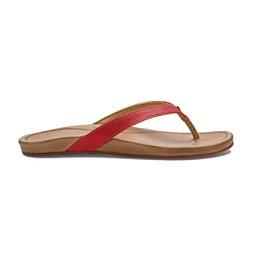 OluKai Hi'ona Womens Flip Flops, Paprika-Tan, 256