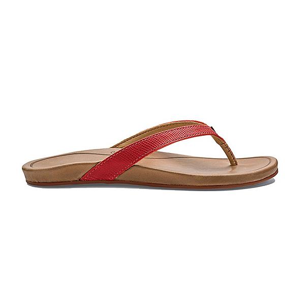 OluKai Hi'ona Womens Flip Flops, Paprika-Tan, 600