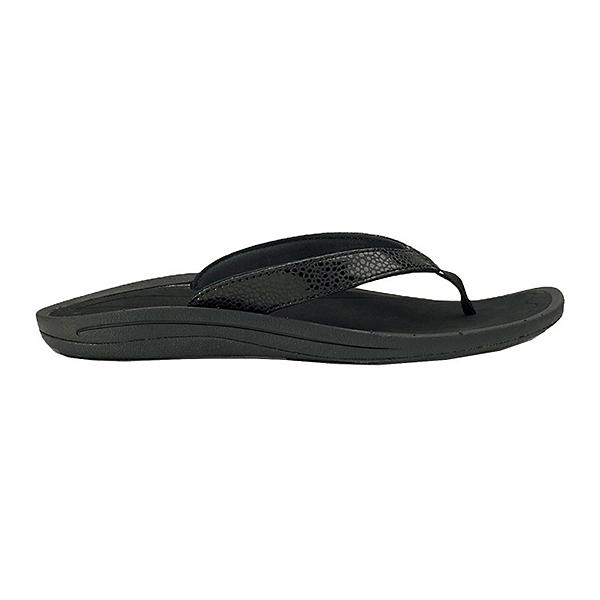 OluKai Kulapa Kai Womens Flip Flops, Black-Black, 600