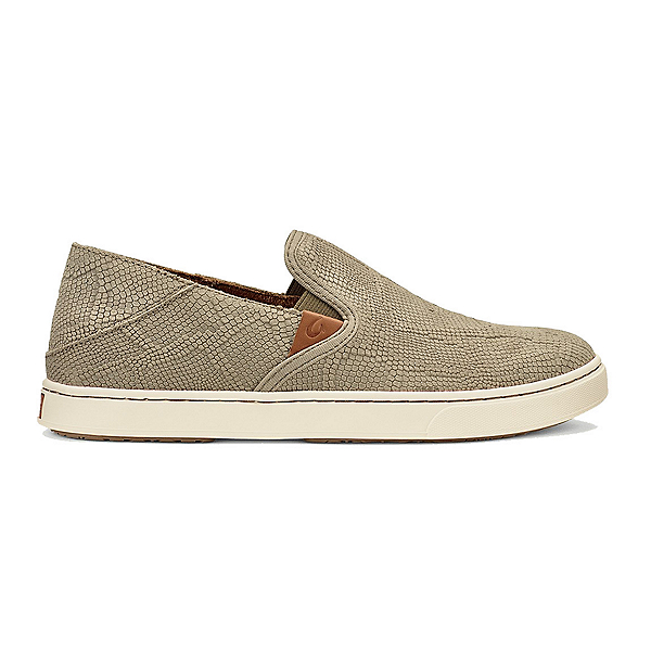 OluKai Pehuea Leather Womens Shoes, Clay Honu-Clay, 600