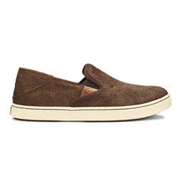 OluKai Pehuea Leather Womens Shoes, Dk Java Honu- Dk Java, 256