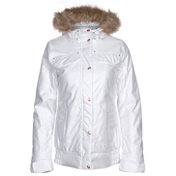 Powder Room Brittany Insulated w/Faux Fur Womens Insulated Snowboard Jacket, Bright White, 256