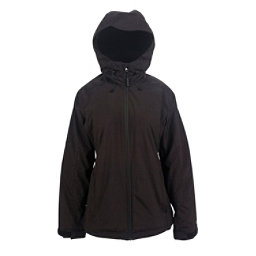 Powder Room Phantom Womens Insulated Snowboard Jacket, Black Melange, 256