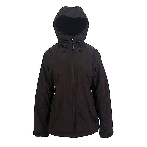 Powder Room Phantom Womens Insulated Snowboard Jacket, Black Melange, 600