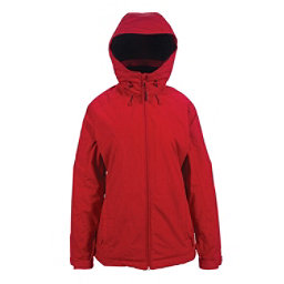 Powder Room Phantom Womens Insulated Snowboard Jacket, Spicy Red, 256