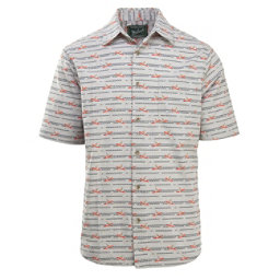 Woolrich Eco Rich Walnut Springs Printed Ripstop Mens Shirt, Limestone, 256