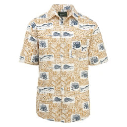 Woolrich Eco Rich Walnut Springs Printed Ripstop Mens Shirt, Wheat, 256