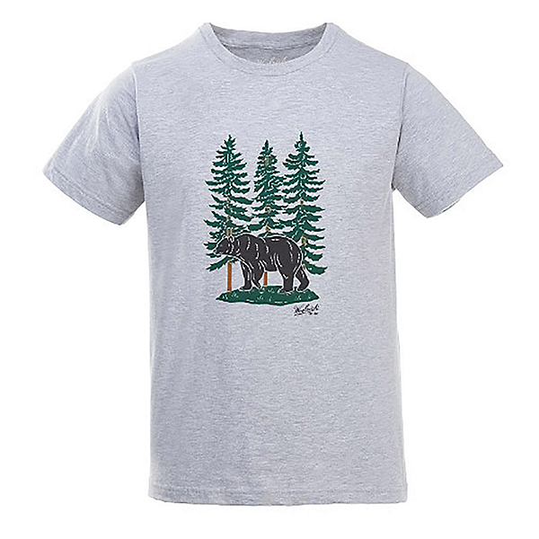 Woolrich Hayes Run Heather Mens T-Shirt, Black Bear, 600