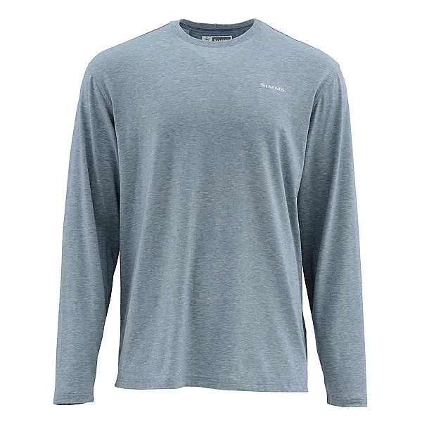 Simms Bugstopper Tech Long Sleeve Tee Mens Shirt, Dark Moon, 600