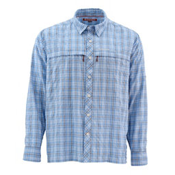 Simms Stone Cold Long Sleeve Mens Shirt, Harbor Blue Pld, 256